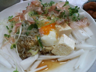 豆腐と大根のサラダ